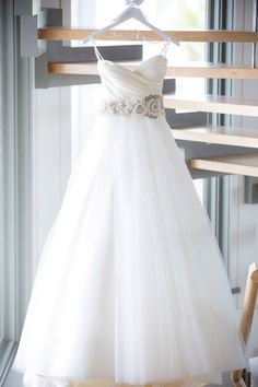 A-line/Princess Pleated Bodice Blush Wedding Dress With Embellished Waist on Luulla