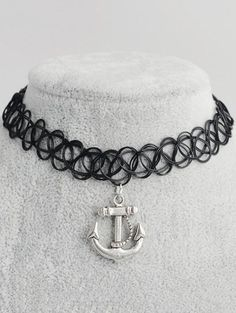 SHARE & Get it FREE | Anchor Hollow Out Tattoo Choker - BlackFor Fashion Lovers only:80,000+ Items • New Arrivals Daily Join Zaful: Get YOUR $50 NOW!