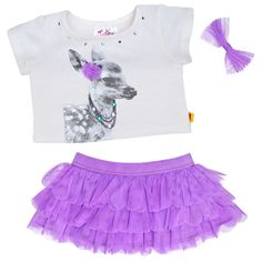 Justice Deer Tee  Skirt Outfit 3 pc. - Build-A-Bear Workshop US