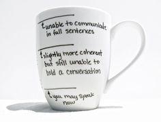 Coffee Mug Fill Line Mug Coffee Cup Tea Cup by RevellHouse