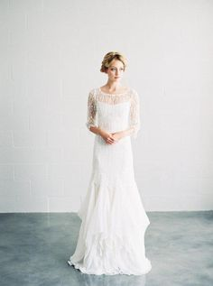 Ornate venise lace cut in a simple, modern shape is just one of the fresh takes on the fabric we're loving for 2015. See the rest of our 2015 bridal trends now on the Etsy Blog. #etsyweddings