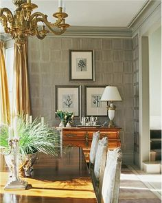 Elegant Transitional Dining Room by Candace Barnes