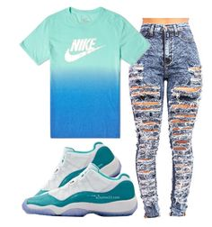 """""""Shoutout to @diamonds101"""" by miyaaonfleek02 ❤ liked on Polyvore featuring NIKE and Retrò"""