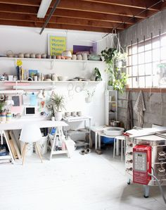 The Workspace of Canadian Ceramicist Lindsey Hampton - Sight Unseen