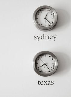 clocks set to time zones, I want to put photos of family members in each time zone with the clocks. Cool way for the girls to learn to tell time too!