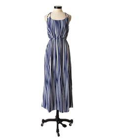 striped maxi dress, BLUE/WHITE, hi-res