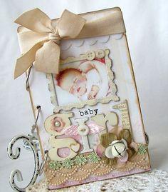 pictures of handmade mini albums   SALE Baby Girl Handmade Mini album