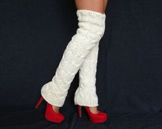Winter Accessories Abovetheknee Knitted leg by orchideaboutique, $49.00  -  I love leg warmers!