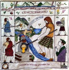 'Modern Kilt Invented, 1723' - From The Great Tapestry of Scotland