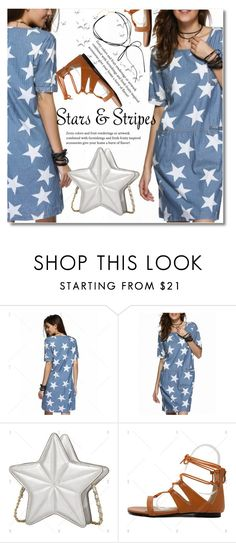 """Stars and Stripers"" by svijetlana ❤ liked on Polyvore featuring vintage, stars, polyvoreeditorial and twinkledeals"