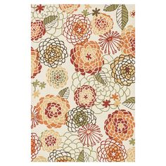 Adorned with an artful floral motif and highlighted by a burnt palette, this hand-hooked rug brings visual interest to your living room or study.