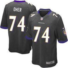 Nike NFL Baltimore Ravens 74 Michael Oher Elite Youth Black Alternate Jersey Sale