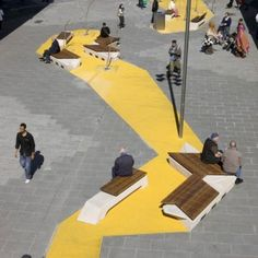 60 ideas for landscape design plaza street furniture Landscape And Urbanism, Landscape Architecture Design, Urban Landscape, Landscape Architects, Landscape Mode, Rendering Architecture, Landscape Rocks, Landscape Curbing, Creative Landscape