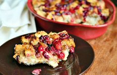 Cranberry Bread Pudding with Honey Whiskey Maple Sauce 4 from willcookforsmiles.com