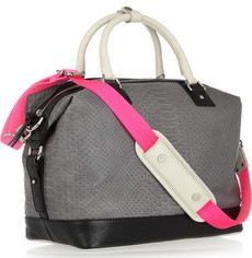 DVF python-effect leather tote as seen on @PurseBlog, perfect for the gym! $865