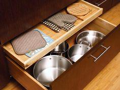 Put Pots in Their Place - 20 Smart Kitchen Storage Ideas on HGTV