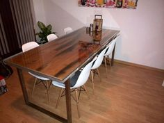 Interieur on pinterest vans wands and live edge table - Stoelen eames ...