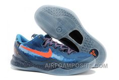"""http://www.airfoamposite.com/for-sale-nike-kobe-8-system-blitz-blue.html FOR SALE NIKE KOBE 8 SYSTEM """"BLITZ BLUE"""" Only $76.00 , Free Shipping!"""