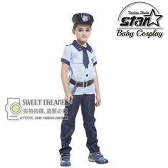 >> Click to Buy << Boys Police Clothing Set Halloween Cosplay Costumes Cops Performance Wear Kids Kotwal Uniform Children Stage Clothes Set #Affiliate