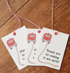 free, printable fire truck party