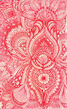 """red"" ~ ink drawing 