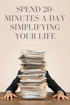 Simplifying can feel overwhelming, so I wanted to help you get started by giving you direction for how to declutter your life in just 20 minutes a day!
