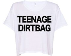 Teenage Dirtbag Crop top One Direction shirt One direction tshirt crop top t shirt crop top tank WHITE