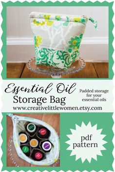 Make an Essential Oil Bag. Padded storage for your Essential Oils. Great handmade gift for the oil loving friends on your list... Sew one today!