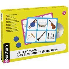 Ces jeux sonores proposent, en atelier dirigé, des activités pour affiner l'écoute, stimuler l'expression orale et découvrir l'univers des instruments de musique.