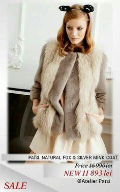 Fox & Silver Mink coat. #PaisiFurSALE Mink, Fur Coat, Fox, Silver, Jackets, Fashion, Atelier, Down Jackets, Moda