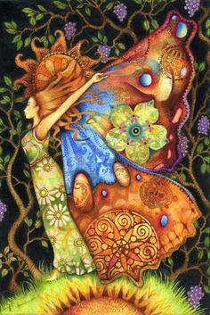 Tarot Artwork by Artist Holly Sierra Art And Illustration, Murciano Art, Art Sculpture, Goddess Art, Fairy Art, Gods And Goddesses, Faeries, Mystic, Fantasy Art