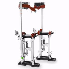 "Aluminum Tool Stilts 15"" to 23"" Adjustable Inch Drywall Stilt for Taping Painting Painter Taping silver"