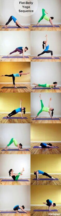 Flat belly yoga sequence ... I'll appreciate someone calling the paramedics after I attempt this. K?