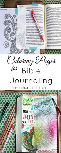 You don't have to be an artist to enjoy Bible journaling. Use coloring pages that are so popular right now and trace them onto your pages. Find out how to make this same entry with the help of @Michaels Stores at thesoutherncoutur....