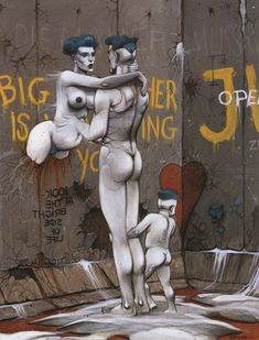 "From ""Portfolio Die Mauer Berlin"".   [Futuropolis 1982] by Enki Bilal"