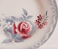 Les assiettes de ma grand-mère :-)  Assiette Digoin Sareguemines France