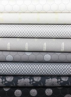 Robert Kaufman, Shimmer 2, Greyscale in FAT QUARTERS 8 Total