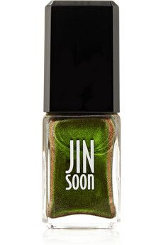 Amazing how this color isn't really mixed when you paint it onyour nails.  Jin Soon Nail Polish - Epidote | NET-A-PORTER