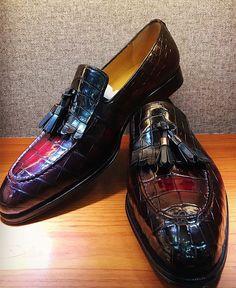 bc9e63a151a Alligator Tassel Loafer Formal Alligator Slip-On Shoes Loafer Sneakers