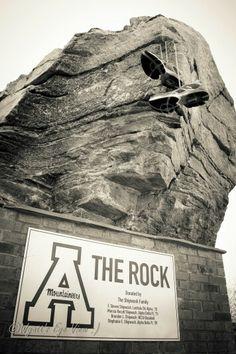 Appalachian State University.  The Rock