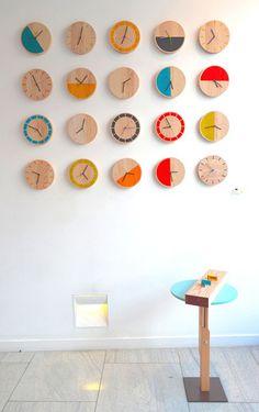 wood clocks on the wall Wall Watch, Wall Clock Design, Clock Wall, Diy Clock, Clock Ideas, Ideias Diy, Wood Clocks, Do It Yourself Home, Creative Walls