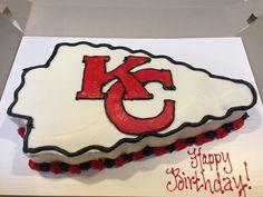 Kansas City chiefs cake 17 Birthday, Birthday Ideas, Birthday Parties, Elephant Birthday Cakes, Cupcake Cakes, Cupcakes, Specialty Cakes, Cake Decorating Tips, Decorated Cakes