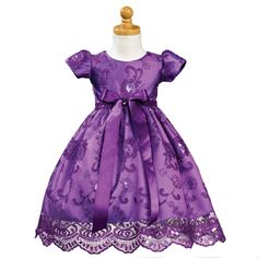 toddhers purple dresses   Lito Purple Embroidered Sequin Tulle Christmas Dress Toddler Girls 3T