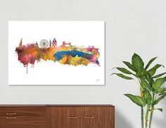 Discover «London skyline 2», Numbered Edition Aluminum Print by Justyna Jaszke - From $59 - Curioos