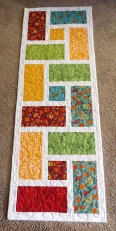 Hand-Made-Quilted-Table-Runner-Multi-14-1-2-034-x-40-1-2-034-100-cotton
