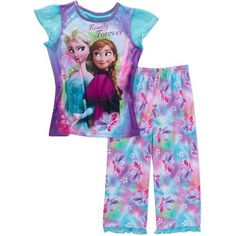 Disney Frozen Girls Anna Elsa Family Forever Pajamas Small 6X >>> Details can be found by clicking on the image-affiliate link. #Disneyfor Girls