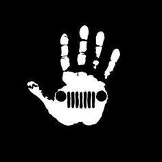Jeep Wave Hand Vinyl Decal Choose Size and Color Made with 100% Automotive Grade Vinyl.