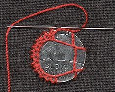 Coin sewn to the fabric! / Other crafts / PassionForum - master classes in needlework Embroidery Techniques, Embroidery Stitches, Scandinavian Embroidery, Make Do And Mend, Needle Lace, Fabric Jewelry, Creative Crafts, Crochet Hooks, Needlework