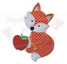 Aufnäher - Fuchs XL in Orange Applikation Aufbügler Aufnäher - ein Designerstück von amelies-welt-stickt bei DaWanda
