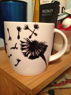 Super cut DIY mugs of dandelion turning into birds